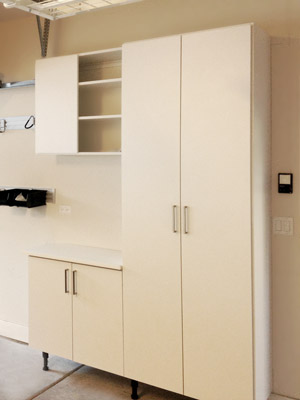 Garage Shelving and Cabinet System