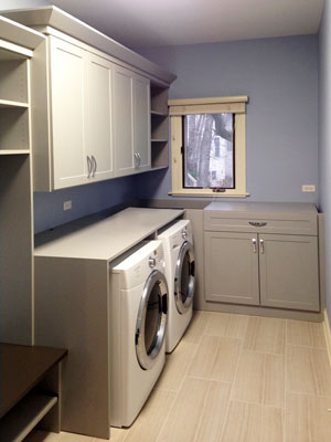 rain cloud laundry room organization system