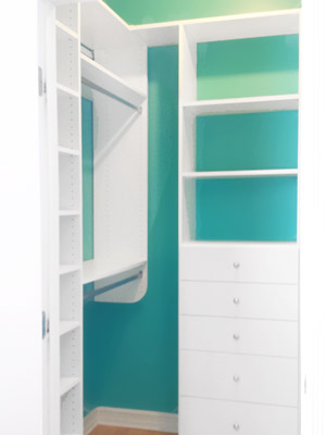 blue wall closet system