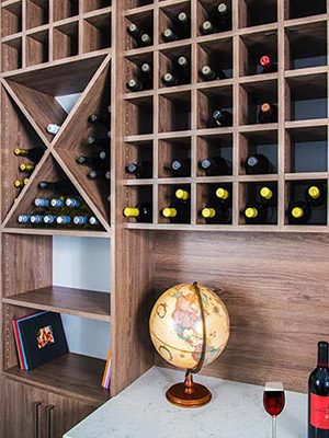 custom wine rack wall unit