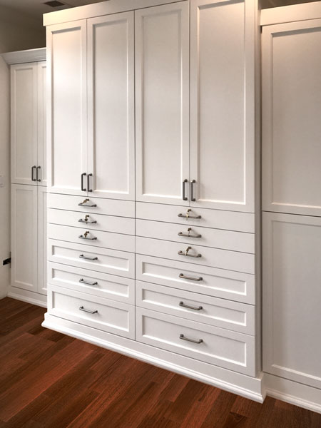 custom painted wood stand alone closets with locking drawers