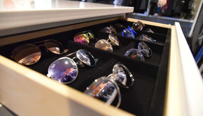 sunglass drawer organizer