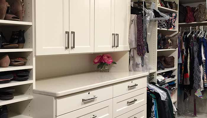 Walk-in with a closet hutch