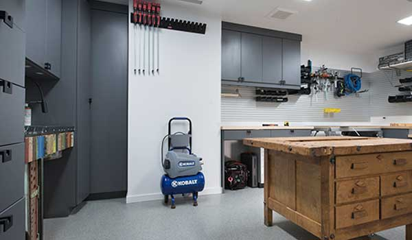 Woodworking shop for basement