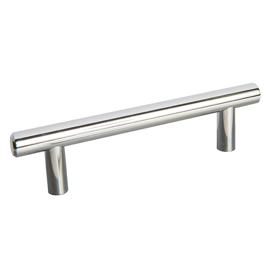Bar Polished Chrome Handle Part Number 1568 - 96MM