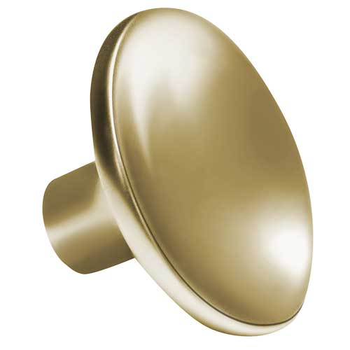 Curved Round Matte Gold Knob Part Number 3273