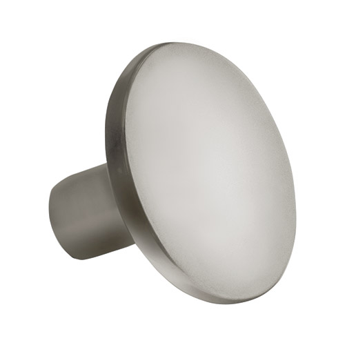 Contempo Round Brushed Chrome Knob Part Number 3283