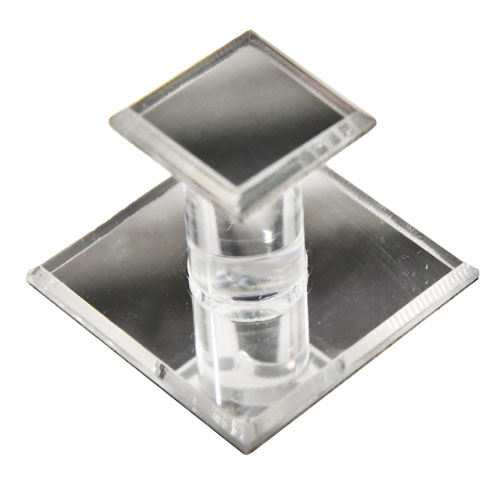 Square Mirrored Acrylic Pull for Glass Doors Part Number 9759