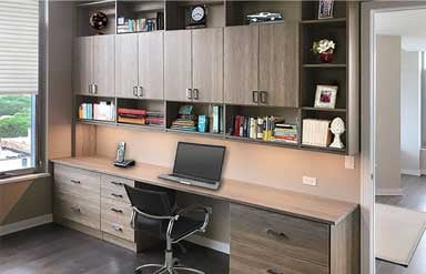 Custom home office examples for work-at-home