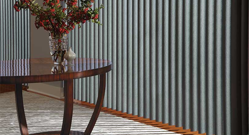 Cadence Soft vertical Blinds by Hunter Douglas close-up