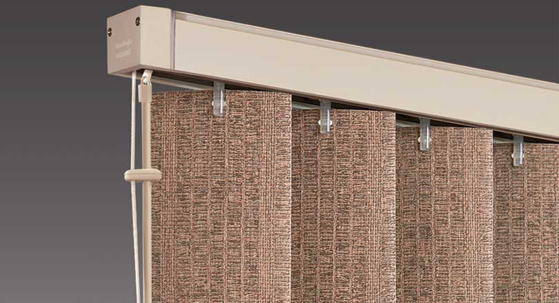 Somner vertical Blinds by Hunter Douglas close-up