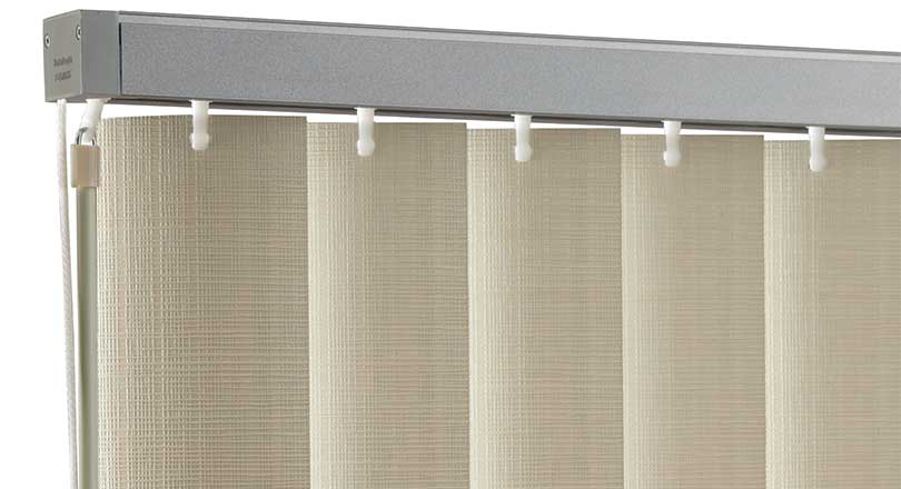 Vertical Solutions blinds by Hunter Douglas close-up