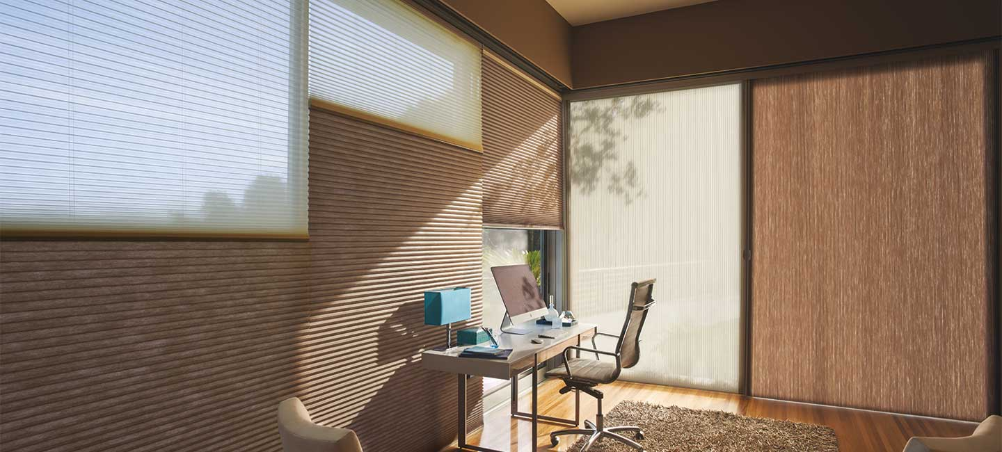 Hunter Douglas Applause honeycomb shades with Duolite for light control