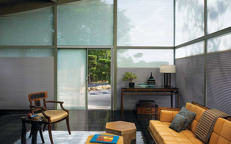 Insulating Duette cellular honeycomb shades with Duolite