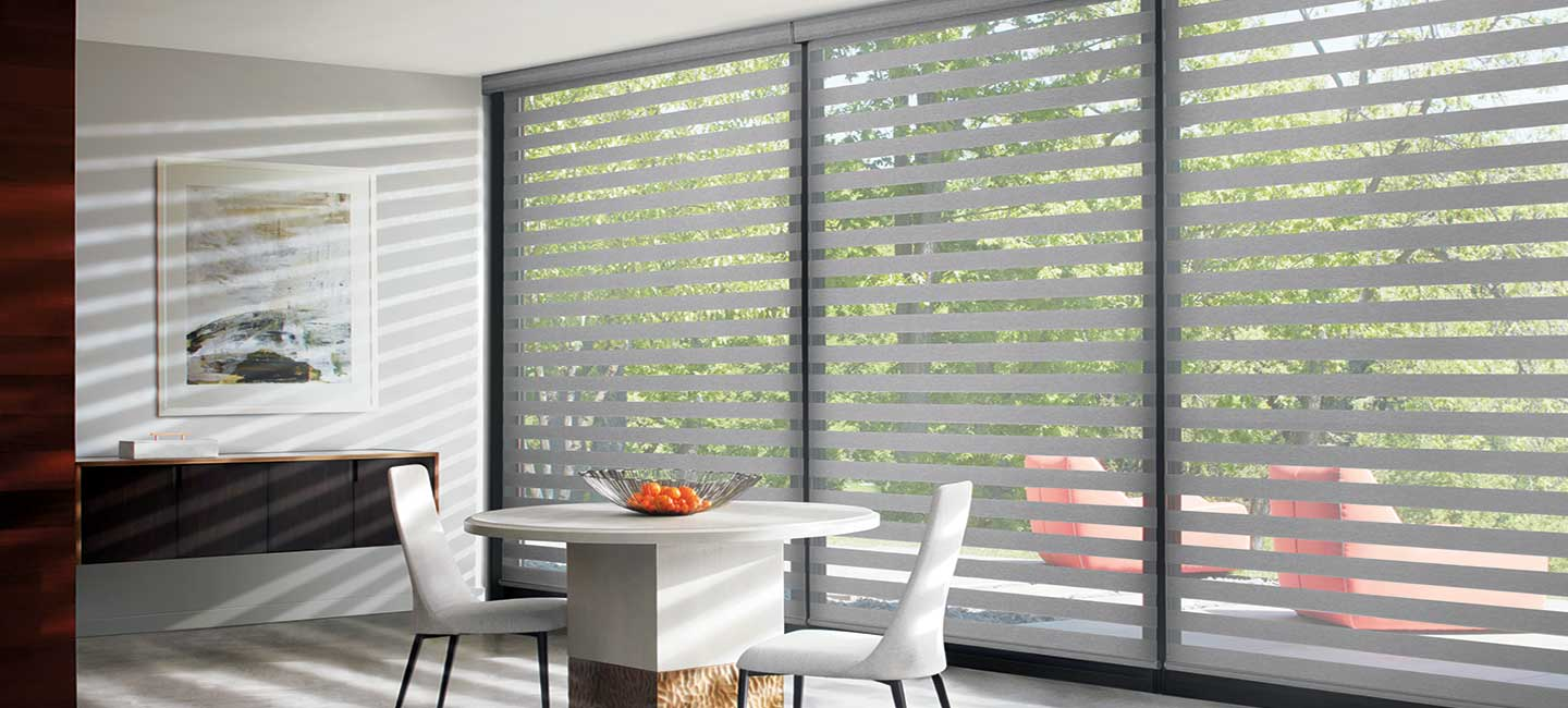 Hunter Douglas Designer Banded Shades window treatments filter UV rays