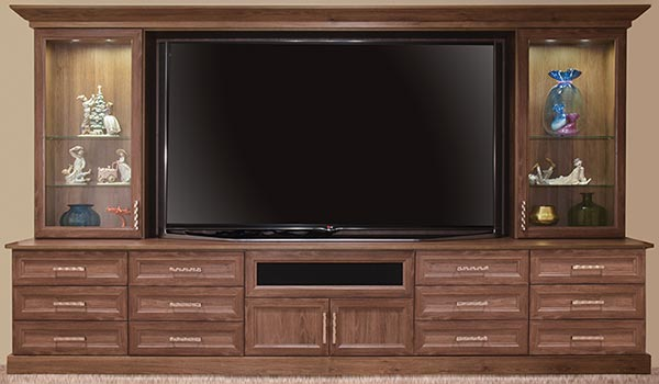 Custom entertainment Center for 90-inch tevision