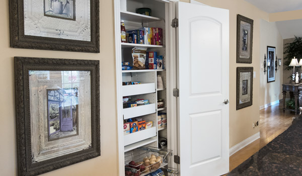 compact reach-in pantry organizer with maximum storage space