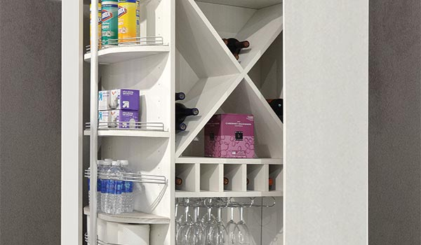 The 360 Organizer as a custom pantry organizer for pantry cabinets