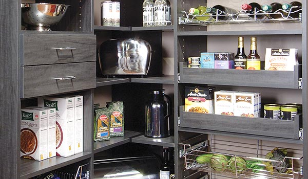 Corner Pantry Organizer with Pull-Out Pantry Shelves