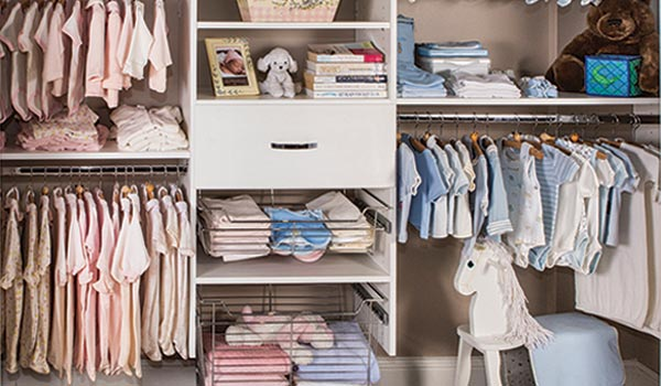 Bedroom Closets System for Multiple Babies