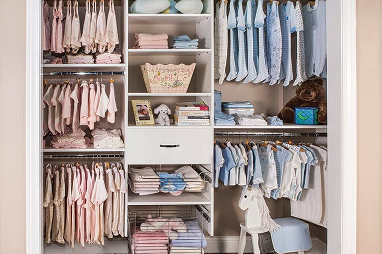 organized closet ideas for baby's room