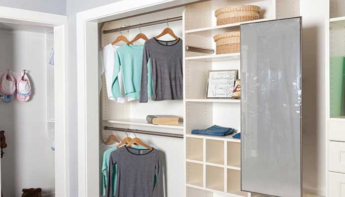 Reach-in Closet with Mirror