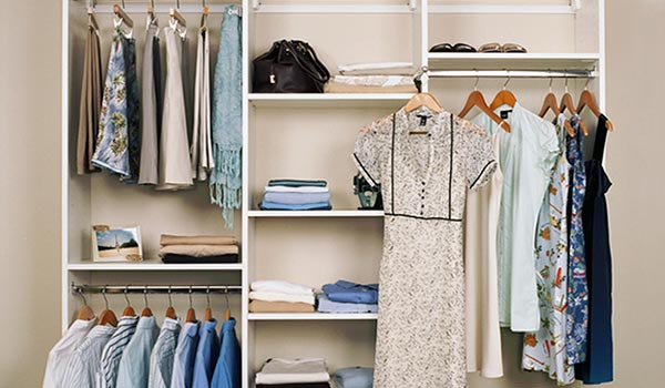 Transform closets with clean white lines