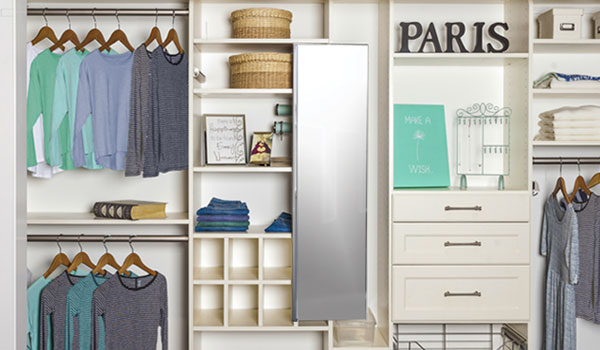 Organized closet system for a tween for all organizational needs