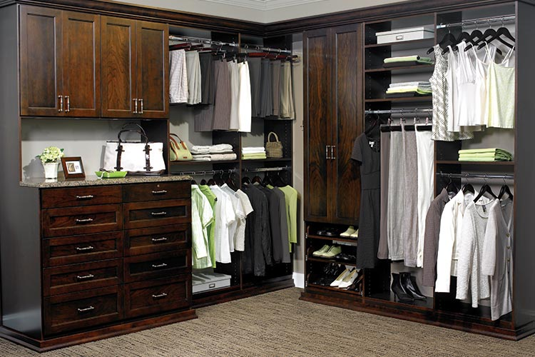 A closet organization system can double your closet space