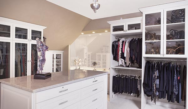 Luxury Custom Walk in Closets with Sloped Ceilings